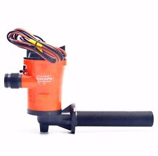 PERFECT!!! 800gph 12v Livewell Live Bait Tank Aerator Submersible Bilge Pump-AM
