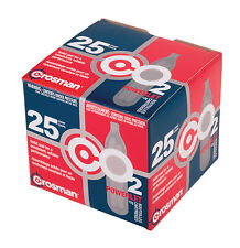 Crosman 25 qty CO2 Powerlet cartridges for Gas Powered Guns Model 2311