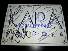 Kara 5th Mini Album Pandora Autographed Signed Promo CD Back Damage RARE