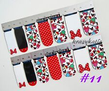 Mickey Mouse Minnie #11 Nail Wrap Patch Adhesive Stickers 14pcs Ultra-thin Full