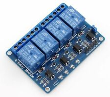 4 Channel 12V Relay Module Interface Board Optocoupler LM2576 Power Supply PIC