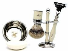 SLIVER TIP BADGER HAIR SHAVING SET OF 5 PIECES COMES WITH GILLETTE MACH 3 RAZOR