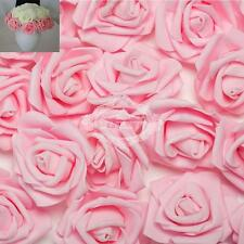 100 Foam Rose Heads Artificial Flowers Wedding Bride Bouquet Party Decor DIY