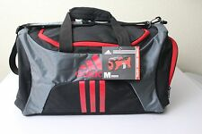"ADIDAS Scorer Medium Duffel Gym bag Men Grey/Black  25"" x 12.5"" x 12"" approx"