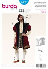 Burda Mens Sewing Pattern 6887 King Henry the 8th Fancy Dress Costume (Burda-...