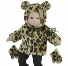 """Leopard Fur Jacket Coat for 15"""" Bitty Baby Doll Clothes Widest Selection Found!"""