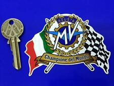 MV AGUSTA Flags Scroll helmet or motorcycle sticker
