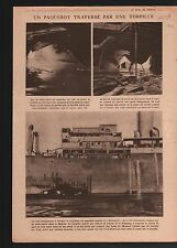 WWI Liner Kwang-Si Paquebot Torpille Torpedo Submarine Germany 1918 ILLUSTRATION