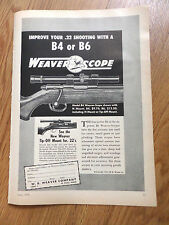 1954 Weaver Scope Ad Improve Your .22 Shooting with a B4