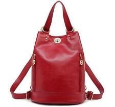 LJZ52 women real leather Messenger Shoulder handbag Backpack Rucksackbucket Bag