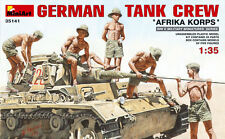 German Tank Crew 'Afrika Korps' Figure Plastic Kit 1:35 Model MINIART
