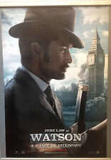 Cinema Poster: SHERLOCK HOLMES A GAME OF SHADOWS 2011 (Watson OneSheet) Jude Law