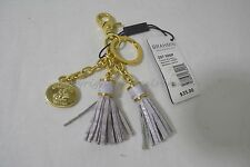 NWT Brahmin Leather Assorted Tassel Key Ring in Lilac Color Beautiful Accessory