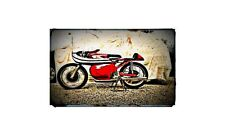 1964 Moto Morini 250Cc Bike Motorcycle A4 Retro Metal Sign Aluminium