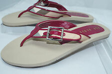 Burberry Women's Shoes Thongs Lancaster Nova Sandals Size 36 Flip Flops Red NIB