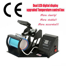 Dual Digital Sublimation Digital Cup Mug Heat Press Transfer Machine w/Timer