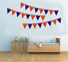 Wall Stickers custom colour party flags bunting string vinyl decal Nursery kids
