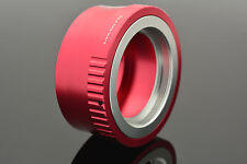 Red M42 Screw Lens Micro 4/3 Camera Mount Adapter & Cap E-P1 OM-D Lumix DMC #689