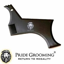 PRIDE GROOMING Beard Styling Shaping Template Comb Barber Tool Symmetry Shaper