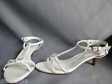 TOD'S CHAUSSURE SANDALE ESCARPIN CUIR BLANC FEMME PUMPS WOMEN SHOES pt 38,5