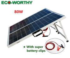 80W Watt  Portable Folding Solar Panel Kit for Car Boat Or 12V Battery Charge