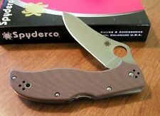 SPYDERCO New Brown G10 Handle Stretch 2 Plain Edge ZDP-189 Knife/Knives