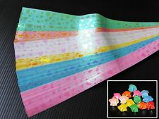 120 strips Origami Paper Folding Kit Lucky Wish Star Shiny Heart mark, 1x25 cm.
