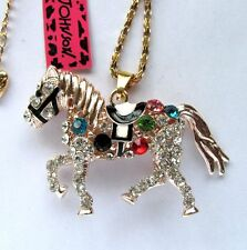 Betsey Johnson colours crystal beautiful The horse pendant Necklace#417L