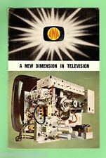 #D88. EARLY AWA TELEVISION  MODEL BROCHURE