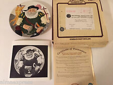 """Davenport Pottery Co """"Falstaff"""" Douglas V Tootle 2nd Issue Toby Collector Plate"""