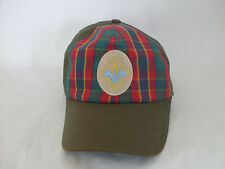 Boy Scout Baseball Adjustable Front Plaid Strap Hat (Tag Missing)