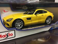 Maisto 1:18 Diecast Model Car - Mercedes AMG GT (Yellow)