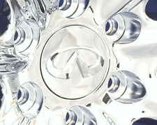 "INFINITI QX56 QX80 CHROME CENTER CAPS WHEEL COVERS CHROME EMBLEM FOR 20/22"" RIMS"