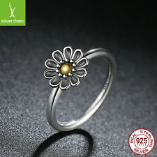 Christmas 925 Sterling Silver Daisy Flower Ring Fit Women Fashion Gifts Size 8