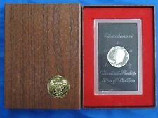 1972 S $1 Silver Proof Ike Dollar Eisenhower Type 2 Us Mint Coin Brown Box