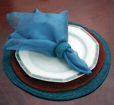 SHEER ORGANZA DINNER NAPKINS, SET OF (6) 100's Available