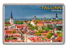 TALLINN ESTONIA FRIDGE MAGNET SOUVENIR IMÁN NEVERA