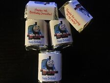 60 Personalized thomas the train Birthday Candy Wrappers Nugget favors stickers