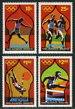 Antigua 557-560, MNH. Olympics, Moscow. Javelin,Running,Pole vault,Hurdles, 1980