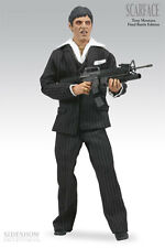 "SCARFACE FINAL BATTLE 12"" TALKING FIGURE SIDESHOW EXCLUSIVE NEW SEALED"