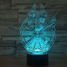 3D Star Wars LED Millennium Falcon Night Room Color Vhange Desk Table Light lamp