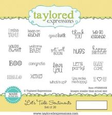 Taylored Expressions LET'S TALK SENTIMENTS Stamp TEMS103