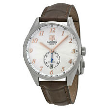 Tag Heuer Carrera Heritage Silver Dial Stainless Steel Mens Watch WAS2112FC6181