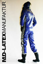"MD-LATEX ""Police-Suit"" Latex Suit Jumpsuit 0,9mm Jumper Rubber NEW"