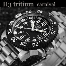 Luxury Mens 200M Waterproof Tritium Watch Rotations Bezel Light Military Watches