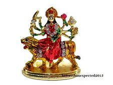 Car Dashboard Decorative Goddess Durga Kali maa Statue Office Table Metal Decor