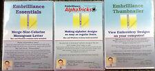 Embrilliance Essentials Alpha Tricks &Embrilliance Thumbnailer  + 50 BX Fonts CD