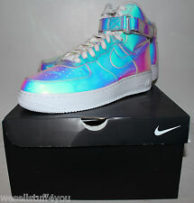 Nike Air Force One AF1 ID Iridescent White Limited Sneakers Men's Size 12 New