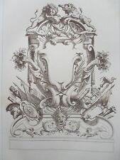 Motif décoraation LIONS époque LOUIS XIV GRAVURE ADAMS MEUBLE XIXéme