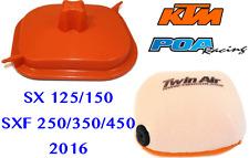 New Twin Air Airbox Cover & Air Filter KTM SX125/150 - SXF250/350/450 2016-2017